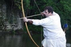 Pêche à l'arc lors d'un tournoi d'archerie à Vireux-Molhain