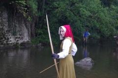 Une apprentie archère
