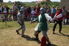 Duel à l'épée lors du tournoi des chevaliers de Walraversijde